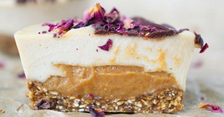 butterscotch caramel cheesecake via raw food recipes