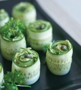cucumber roll with creamy avocado via pure ella