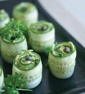 cucumber roll with creamy avocado via pure ella