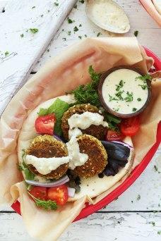 easy vegan falafel via minimalist baker