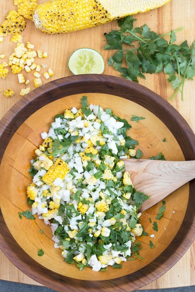grilled mexican street corn salad via lonny