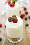 individual no bake vanilla cheesecake via chef savvy