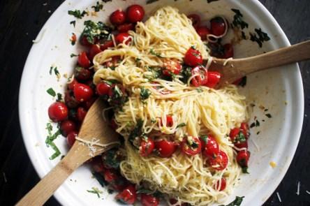 no cook summer pasta via chocolate for basil