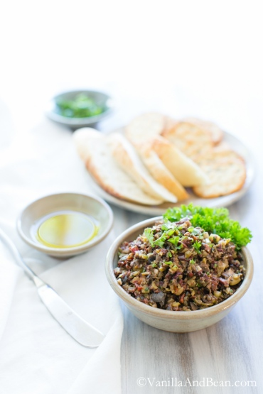 olive tapenade via vanilla & bean