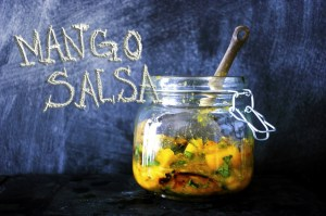 roasted mango salsa via chocolate for basil