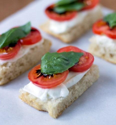 tomato mozzarella and basil tea sandwich via oh how civilized