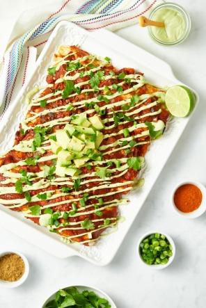 vegan enchiladas via oh she glows