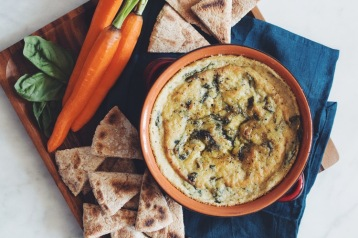 vegan spinach and artichoke dip via hot for food