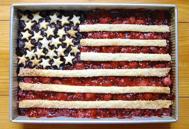 american flag cobbler via king arthur flour
