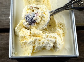 cherry and walnut goat milk ice cream via may I have that recipe