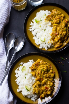 coconut chickpea curry w/rice via jessica in the kitchen