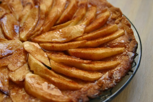 thin french apple tart via southern souffle