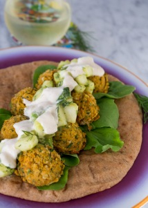 vegan sweet potato falafel sandwich via sweet potato soul