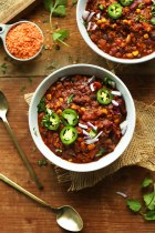 1 pot red lentil chili via minimalist baker