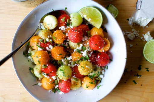 chili lime melon salad via smitten kitchen