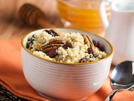 cinnamon breakfast quinoa via silk