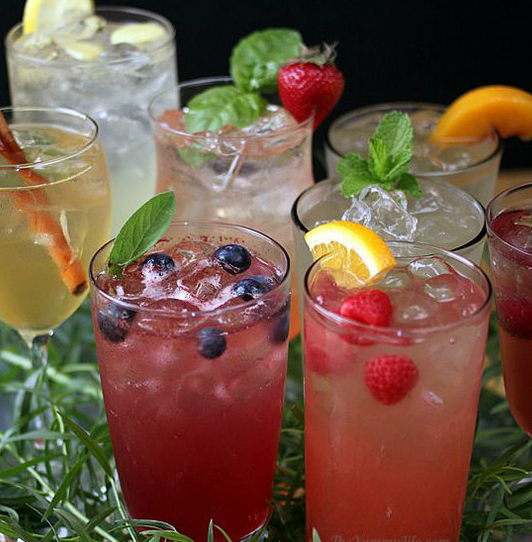 fruit infused perrier drinks via perrier