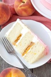 peach layer cake via liv for cake