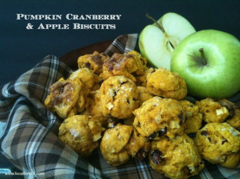pumpkin cranberry apple biscuits w/candied ginger) via the salted table