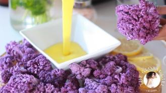 raw turmeric dip with purple cauliflower via the global girl