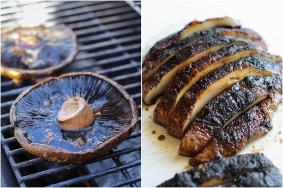 balsamic ginger grilled portobello mushrooms via the roasted root