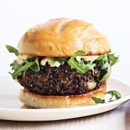 mushroom lentil burger via cooking light