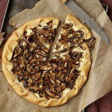 rustic mushroom tart via chef carla hall