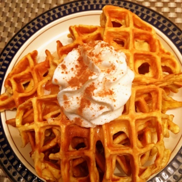 pumkin-waffles-with-whip-cream-and-cinnamon-via-stacee-amos