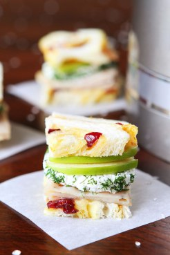 turkey-and-apple-goat-cheese-tea-sandwich-with-homemade-cranberry-orange-bread-via-kitchen-aid