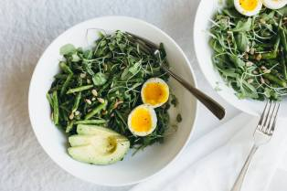 arugula-asparagus-avocado-breakfast-salad- via downshiftology