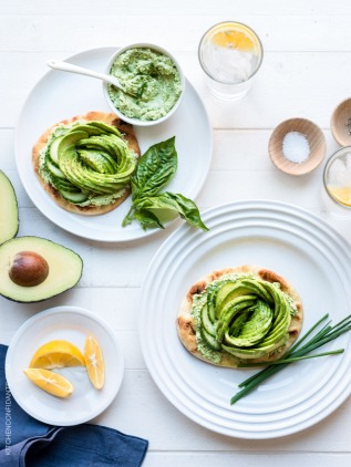 Green Goddess Avocado Toast via kitchen confidante