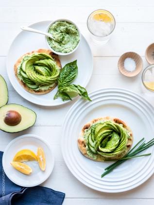 Green Goddess Avocado Toast via kitchen confidante