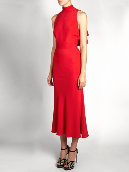 alexander-mcqueen-ruffled-back-crepe-midi-dress-via-matches-fashion