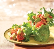 avocado salad lettuce wraps via morningstar farms