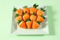 white chocolate strawberry carrots via real simple