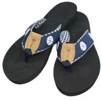 carolina navy sandals via eliza b