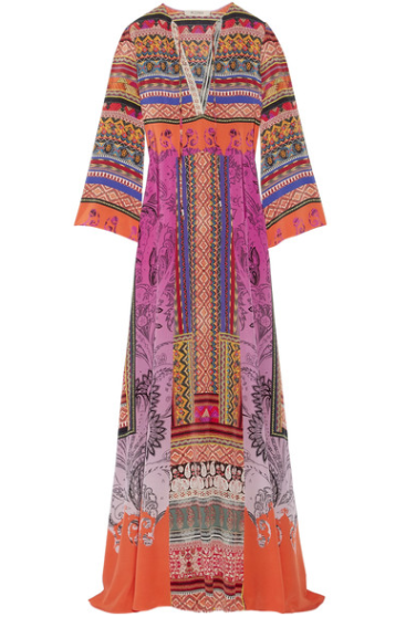 etro printed silk crepe maxi dress via net-a-porter