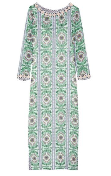 tory burch garden party silk maxi dress via net-a-porter