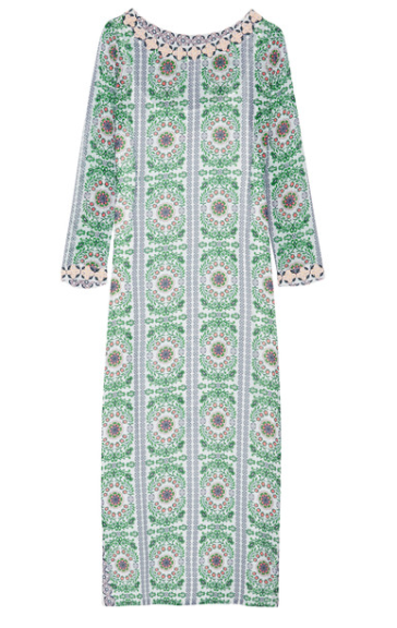 tory burch garden party silk maxi dress via net-a-porter