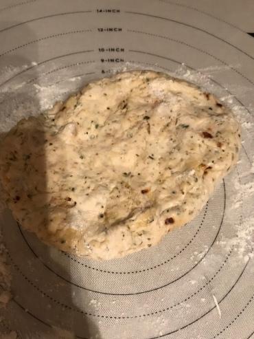 seasoned sourdough pizza crust