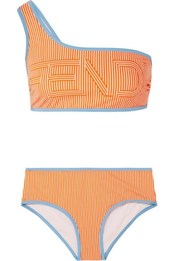 fendi one shoulder bikini via net-a-porter