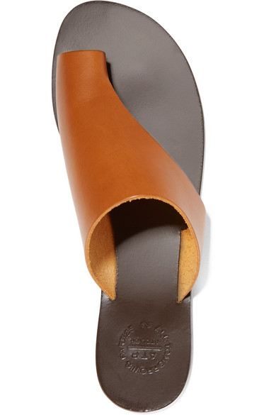 ATP Atelier brown leather sandals via net-a-porter