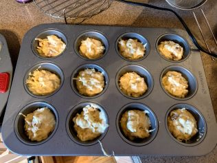 muffins pan filled