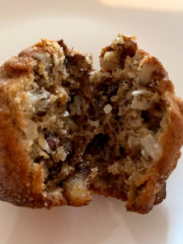 inside banana nut muffins