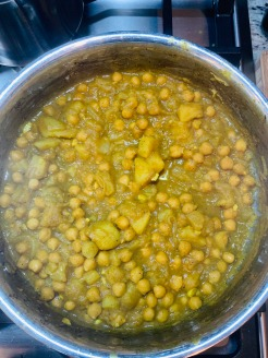 curried chickpea filling